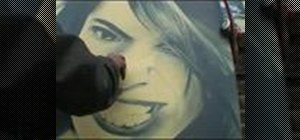 Spray paint graffiti