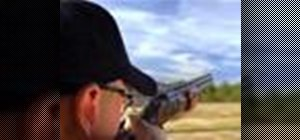 Doskeet leads when shooting targets with a shotgun