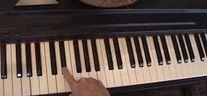 Play the sharp and flat keys on the piano