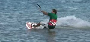 Pull an s-bend kiteboarding trick
