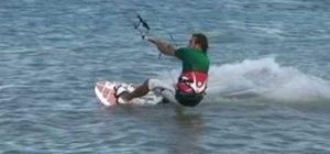 Pull an s-bend kiteboarding trick