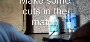 Set a burnt match back on fire magically