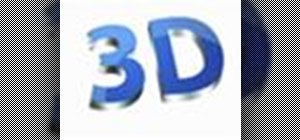 Generate 3D text in Adobe Photoshop CS4