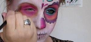 Create a Dia De Los Muertos sugar skull look