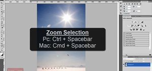 Zoom in and out in Photoshop CS4