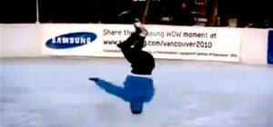 Breakdancer Turns Figure Skating Upside Down