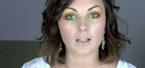 Do a bright, cheery carnival makeup look