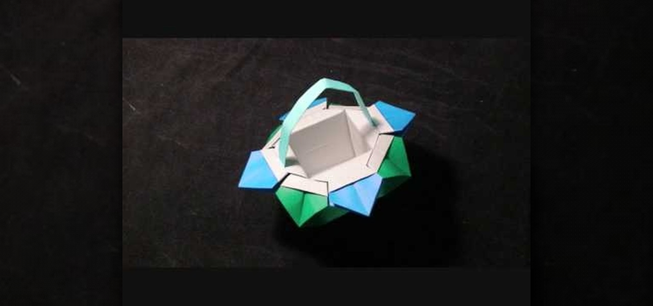 How to make an origami flower basket or pot origami wonderhowto how to make an origami basket from two square sheets of paper mightylinksfo