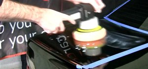 Polish your car with a random orbital machine polisher