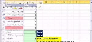Ignore hidden rows with MS Excel's AGGREGATE function