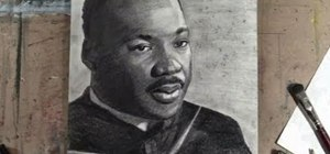 Draw a freehand portrait of Rev. Martin Luther King, Jr.