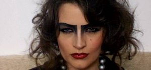 Apply Frank-N-Furter (Rocky Horror) costume makeup