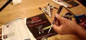 Make cheap DIY blowgun darts out of paper