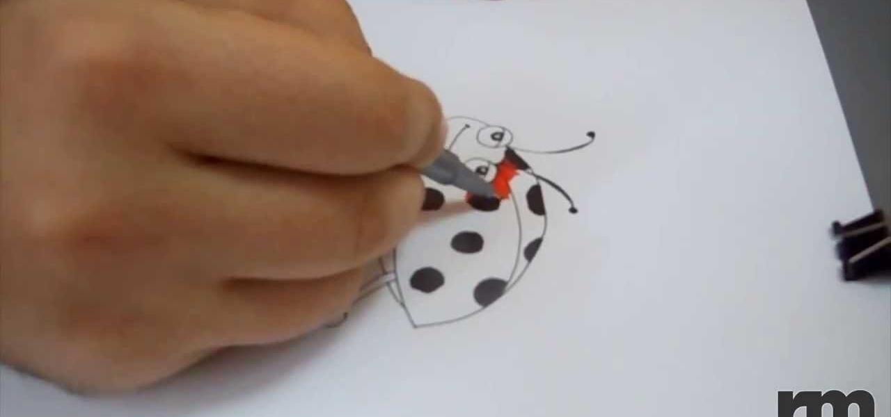 Draw a Cartoon Ladybug