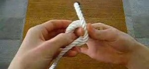 Tie the stopper knot
