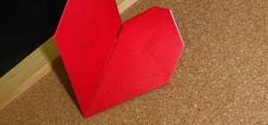 Craft a simple origami beating heart for Valentine's Day