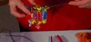Make a candy Christmas wreath