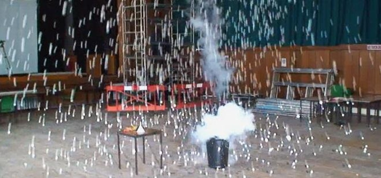 Launch 1,500 Ping Pong Balls into the Air with a Homemade Liquid Nitrogen Bomb