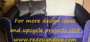 Upcycle a tired old sofa, loveseat or overstuffed chair