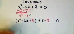 Complete the square and solve the quadratic equation