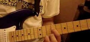 "Play ""Kiss Kuv""  by Destiny on the electric guitar"