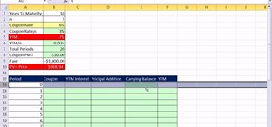 Create a bond discount or premium amortization table in Excel
