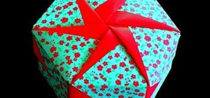 Make an origami gift box lid