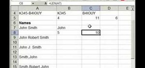 Pull text from Excel cells & separate into columns