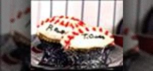 Make baseball cupcakes