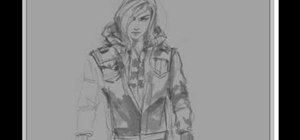 Draw a female assassin