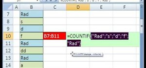 Use a written cell range in a function in MS Excel