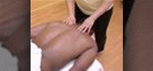Work the back in sports massage