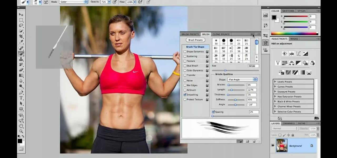 How to Use natural media brushes in Adobe Photoshop CS5 ...