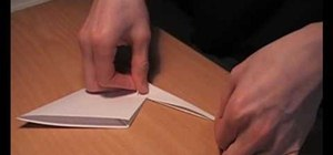 Fold an origami crane like Scofield's on Prison Break