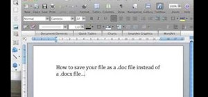 Save a file in Microsoft Word .docx and .doc format