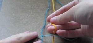Make a square-knot friendship bracelet