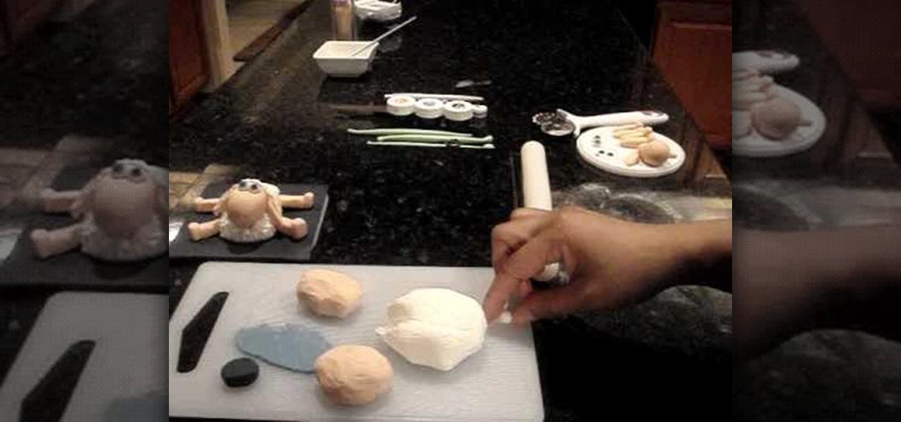 How To Make A Sheep Cake Topper