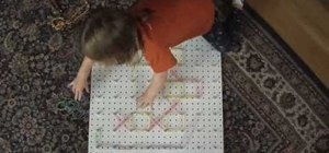 Build a giant geoboard with your kids