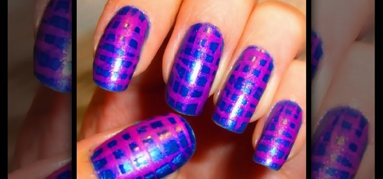 How To Create A Moroccan Magenta Nail Art Design Nails Manicure