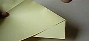 Fold a six pointed star from rectangular paper