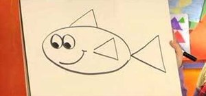 Teach your kids to draw a fish