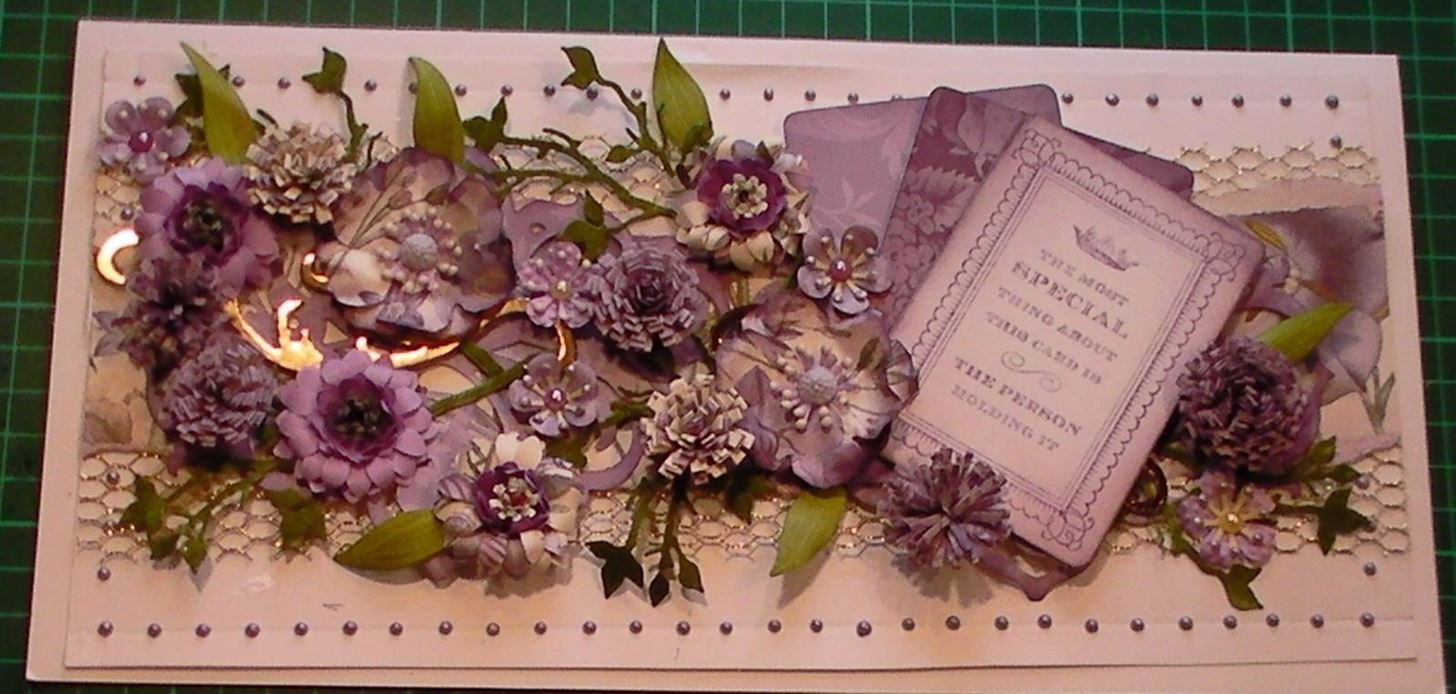 How to Make Large Anna Griffin Lilac Floral Texture Layer Card