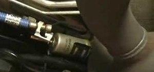 Remove a fuel fliter