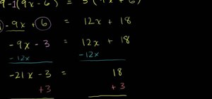 Solve algebraic equations by the distributive property