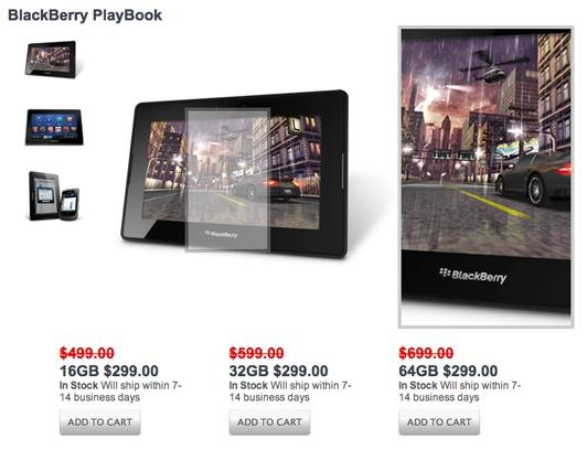 Great Deal: RIM Slashes Prices on BlackBerry PlayBook Tablets to $299