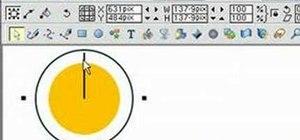 Split a circle into a pie chart in Xara Xtreme