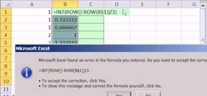 Increment a number pattern by formula in MS Excel