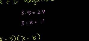 Factor quadratic expressions