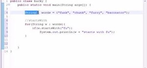 Use common string methods when programming in Java
