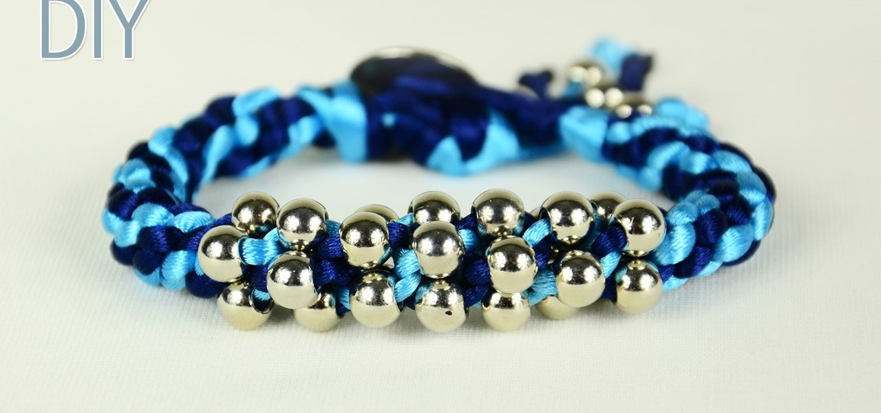 DIY Chinese Crown Knot Bracelet with Beads